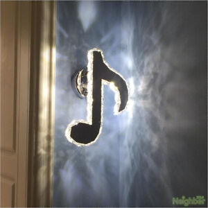 New Modern Musical note Crystal LED Wall Lamp Wall sconce Light Lighting
