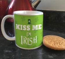 Kiss me Im Irish quote ceramic mugs & coffee cups