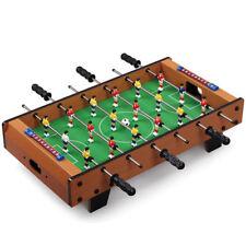 Calcio balilla da tavolo in legno 70x37x17 cm piedi gioco biliardino calcetto