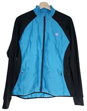 Champion Womens Full Zip Jacket Performax XL Blue Black Fitness