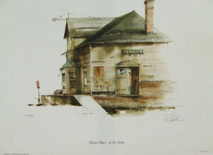 ROD GUTHRIE GIRARD STATION 28X22 HAND SIGNED #100 WATER COLOR LITHOGRAPH ART NEW