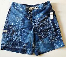 Polo Ralph Lauren Blue Moroccan Tile Men XXL Kailua Swim trunks NEW