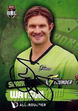 ✺Signed✺ 2015 2016 SYDNEY THUNDER Cricket Card SHANE WATSON Big Bash League