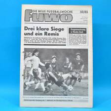 DDR FuWo 50/1985 Pokal: FCK-Dresden 2:0 BFC-Hansa 5:1 Lok-Jena 0:0 WM-Quali A