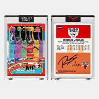 Michael Jordan 1996 Fleer Rookie Card Multi-Image Art by RENCY Signed S/N of 230