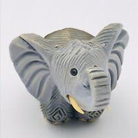 Artesania Rinconada African Gray Elephant Figurine #159 Classic Uruguay