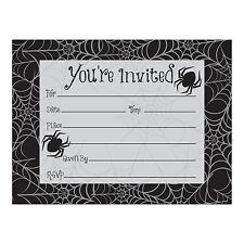 8 X Fête de Halloween Invite Invitations Araignées & Toile D'Araignée Design
