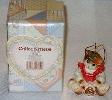 """Vintage Calico Kittens """" Mom """" Mib"""