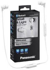 Panasonic rp-nj300be-w BLANC BLUETOOTH sans fil ergo-fit Casque / TOUT NOUVEAU