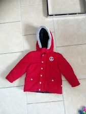 Mädchen Winterjacke Liegelind warm mit Kapuze rot Größe 92