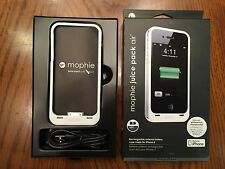 Original mophie juice pack air 1500mAh battery charging white case iPhone 4 4s