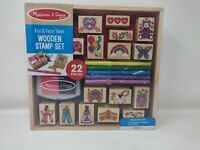 Melissa & Doug Wooden Stamp Set: Fun & Fairy Tales New Factory Sealed