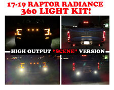 Ford Raptor Rigid Radiance SCENE 360 fog light Kit W Brackets LED 2017-2019 2018