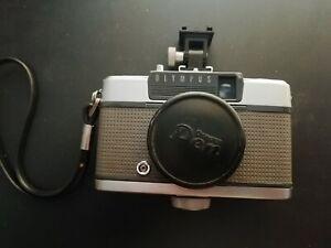 Olympus Pen EE half frame film camera with flash bracket
