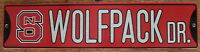Street Sign Wolfpack Dr. NCAA colorful picture University North Carolina State