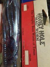 "Honey Hole'S Original ""Mag Worm"" 10 Pcs.(Plumb Blue Fleck) original sample pack"