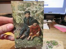 Vintage Old Postcard Victorian Era SAINT ST PATRICK'S DAY Irish Children Kids