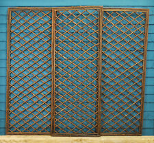 Set of 3 Willow Garden Trellis Framed Panel (120cm x 45cm) by Gardman