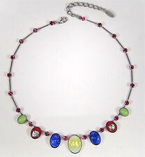 SoHo® Collier mit vintage 1960´s handgemachten Glassteinen Farbenfroh Kunterbunt