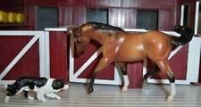 Breyer Stablemate BUCKSKIN QUARTER HORSE~Barn Farm Ranch Cowboy~Tractor Set~NEW!