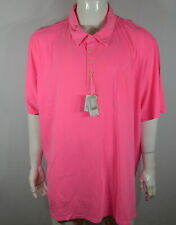 Johnnie-O Neal Men's Big & Tall Polo Shirt 5XL Hanging Out Neon Pink NWT