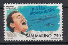 1996 SAN MARINO L. 750 STORIA DELLA CANZONE PER MODUGNO NEL BLU DIPINTO DI BLU