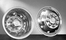 """HUBCAPS STAINLESS FOR CUTAWAY BUS OR VAN  16"""" DUALLY 8 HAND HOLE 8 LUG 16 INCH"""
