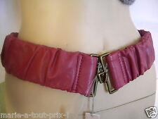 MEXX CEINTURE féminine taille ou hanches rose mauve M L extensible confortable