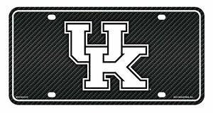 Kentucky Wildcats Metal Tag License Plate Carbon Fiber Design University of