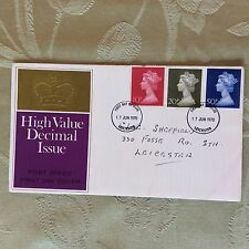 a2b commemorative fdc high value decimal issue june 17th 1970 3 stamps