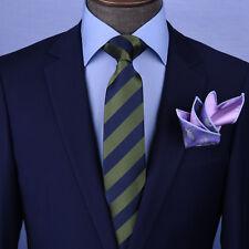"Green & Blue Stripe sexy  3"" Necktie Business Elegance Formal Business Occasion"