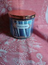 NEW BATH & BODY WORKS BLUE AGAVE 3-WICK SCENTED LARGE 14.5 OZ FILLED JAR CANDLE