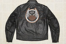 Harley Davidson Men's 105th Anniversary Black Leather Jacket L 97105-08VM Rare