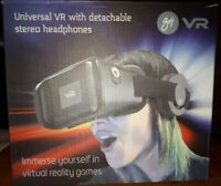 Goji Universal VR Headset With Detachable Stereo Headphones in Sealed Box