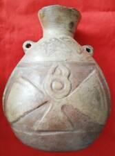 Authentic Precolumbian POTTERY JAR HUARI culture 1200 AD. Interesting design