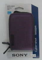 Sony LCS-CSVC/V Violet Purple Carrying Case Protect your Cyber-shot