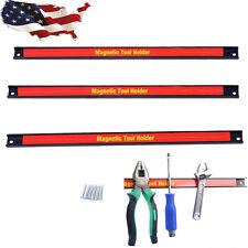 "18"" 3 PCS Magnetic Tool Holder Bar Organizer Storage Rack Knife Wrench Pilers"