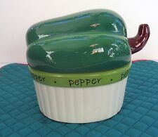CERTIFIED INTERNATIONAL COVERED BOX -JUDY PHIPPS - GREEN PEPPER, DW & MICRO SAFE