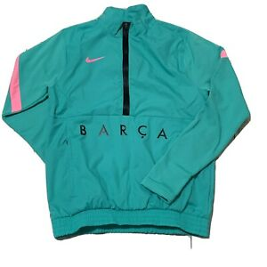Nike Barcelona Track Jacket Woven 20/21 Green/Pink Beam CK8486-396 Small New