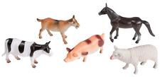 """5 Figuras de juego """"Animales de Granja"""" aprox. 10cm Kit de juego granja Caballo"""