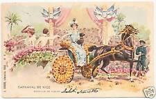 POSTCARD 1903 CARNAVAL DE NICE BATTLE OF THE FLOWERS