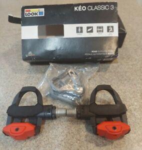 Look Keo Classic 3 Pedals - Black w/cleats