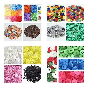 100-50 bulk buttons 9-25mm Crafts Sewing Christmas School RED green yellow blue