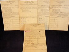 Set of 4 Antique HIGH SCHOOL REPORT CARDS 1938-1942 MUNSON P.K Young Lab School