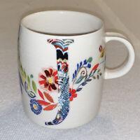 """Anthropologie PETAL PALETTE MONOGRAM """"J"""" 14oz Mug Cup Floral Starla M. Halfmann"""