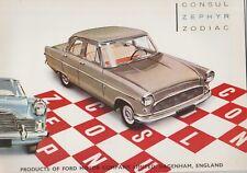 1959 Ford Consul Zephyr Zodiac Sales Brochure  England