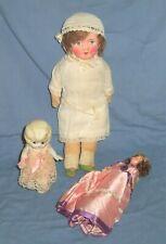 Antique Lot German Usa Japan Toy Dolls Porcelain Paper Mache Plastic Blinking
