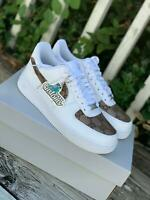 NIKE AIR FORCE 1 | MADE W/ GG MONOGRAM FABRIC CUSTOM Not Jordan