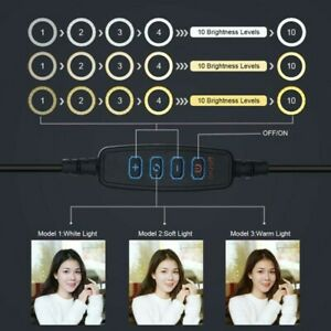 LED Light Ring Video Dimmable Lamp 4-8W PULUZ 4.71 in For Selfie Make-Up