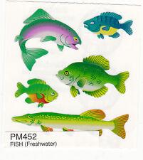 Sandylion Shiny Fresh Water Fish Scrapbooking Stickers.  H97